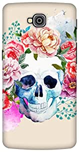 The Racoon Grip Pale Watercolor Skull hard plastic printed back case / cover for LG G Pro Lite