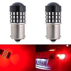 Katur 2PCS super Bright 1156BA15s 7506107310951141301454SMD LED lampadine di ricambio Lens girare freno segnale coda Back up luci di stop parcheggio RV 3.1W DC 12V bianco