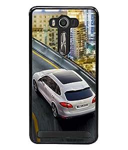 Fuson Designer Back Case Cover for Asus Zenfone 2 Laser ZE550KL (5.5 Inches) (Wheels Porsche Turbo Engine Light)