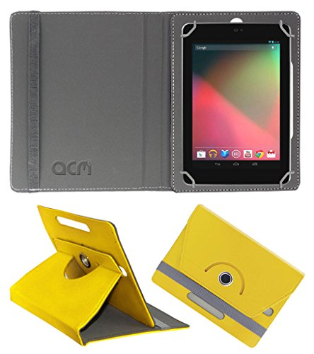 Acm Rotating 360° Leather Flip Case for Asus Google Nexus 7 Cover Stand Yellow  available at amazon for Rs.149