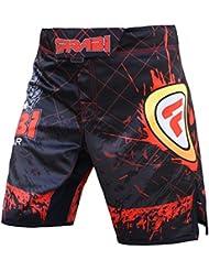 Jaula de Entrenamiento de pantalones cortos de MMA compitiion Lucha Kick Boxing Muay Thai–Pantalones para hombre, tamaño Guía en la zona de imágenes, color , tamaño large
