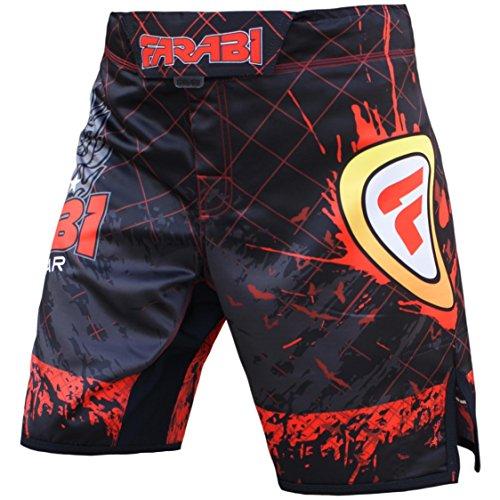 MMA Pantalones Cortos para Entrenamiento de competición Jaula Lucha Kick Boxing Muay Thai pantalón, tamaño de guía en área de imágenes (Mediano)
