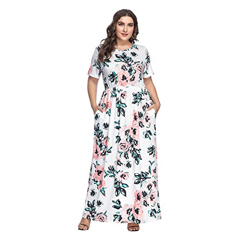 f69d47d9c4648 Lover-Beauty Vestido Largo Mujer Talla Grande Moda Bolsillo Top Falda para  Fiesta.
