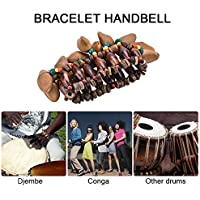 Instrumento Africano del Tambor, Accesorio Hecho a Mano del Handbell de la Pulsera de Shell de Las Nueces para Djembe Instrument Africano del Tambor