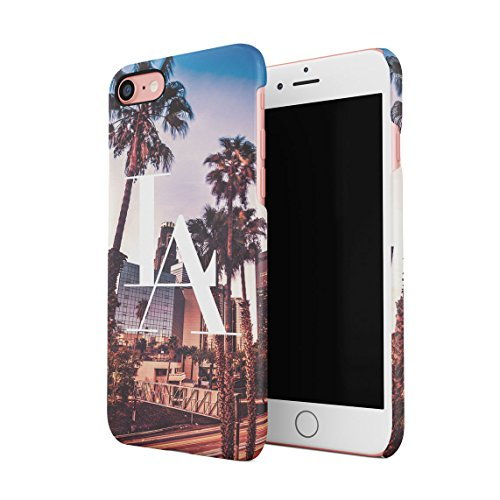 LA Los Angeles City Of Angels California Palme Beach Sommer Tumblr Dünne Rückschale aus Hartplastik für iPhone 7 & iPhone 8 Handy Hülle Schutzhülle Slim Fit Case cover (Apple Hill)
