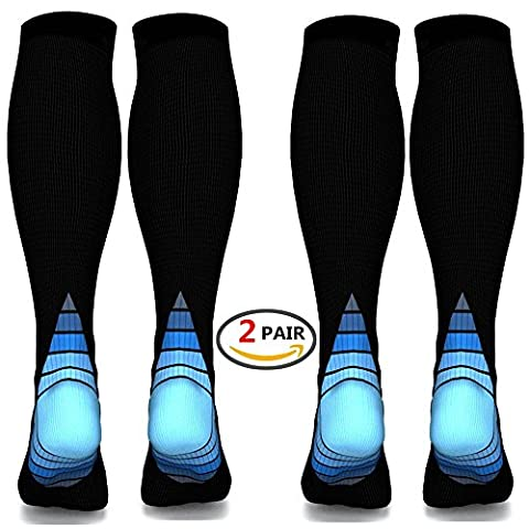 Compression Socks for Men & Women,(2 pair)Better Blood Circulation, Prevent