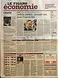 FIGARO ECONOMIE (LE) [No 17982] du 03/06/2002 - FRANCE - LES AGENCES DE NOTATION SUR LA SELLETTE - MONNAIE UNIQUE - LE TEURO TETANISE LES CONSOMMATEURS ALLEMANDS - ITALIE - LA BANQUE CENTRALE FUSTIGE LA LENTEUR DES REFORMES - TELECOMS - ALCATEL PARTAGE SA TECHNOLOGIE AVEC LA CHINE - CHANTIERS DE L'EUROPE - DECENTRALISATION - BRUXELLES POUSSE LES FEUX - BUDGET - ALORS QUE LE CONSEIL ECOFIN SE TIENT DEMAIN AU LUXEMBOURG - DEFICITS PUBLICS - PREMIER TEST POUR FRANCIS MER - DROIT EUROPEEN - LA COUR