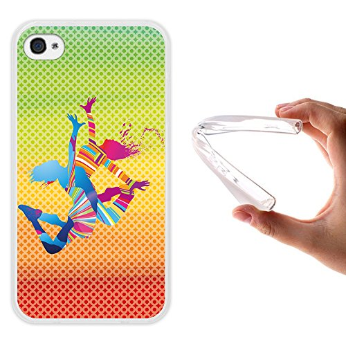 iPhone 4 iPhone 4S Hülle, WoowCase Handyhülle Silikon für [ iPhone 4 iPhone 4S ] Basketball Handytasche Handy Cover Case Schutzhülle Flexible TPU - Transparent Housse Gel iPhone 4 iPhone 4S Transparent D0503