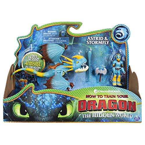 Cómo entrenar a tu dragón - Dragón Tormenta y Vikingo Astrid, Dragons Stormfly (Bizak 61926547)