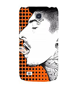 Man Smoking Art 3D Hard Polycarbonate Designer Back Case Cover for Samsung Galaxy S4