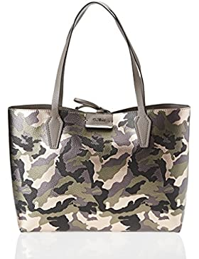 Guess Damen Hwmc6422150 Shopper, Grau (Camo Grey), 12.5x27x42.5 cm