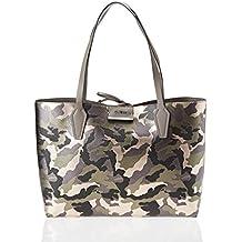 Guess Damen Hwmc6422150 Shopper, Grau (Camo Grey), 12.5 x 27 x 42.5 cm