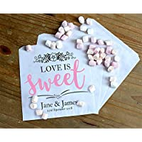 Personalised Wedding Sweet/Sweetie - Candy Cart Favour Bags - Love is Sweet
