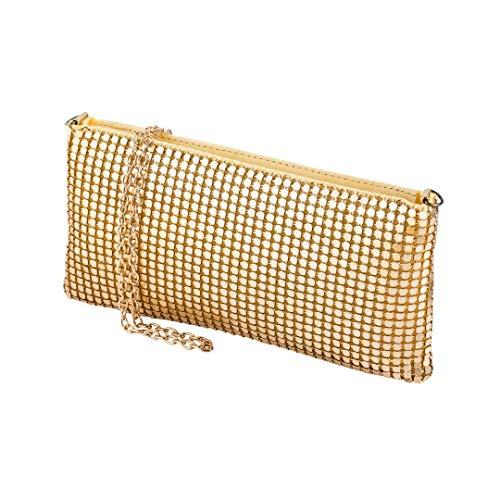 Kostüm Einfach Kurzfristig - cecilia&bens mini Clutch mit Pailletten | 20er Jahre Accessoires Gold | kleine Damen Umhängetasche