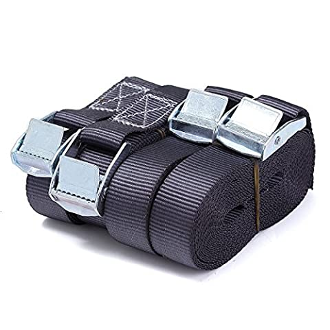 Audew 4 x Heavy Duty Tensioning Belts 5M x 25mm Trailer Tie Down Straps Lashing Strap for Cam Buckles Car Luggage Cargo