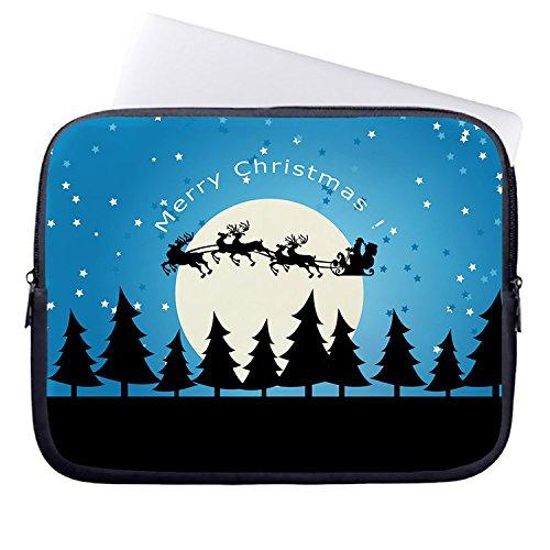 zichuangd Frohe Weihnachten Winter Schneemann 38,1cm wasserabweisend Laptop Sleeve für Macbook Air/Macbook Pro Retina Display/Notebook/Macbook Pro MacBook Pro (Weihnachts-display Schneemann)