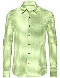 Trachtenhemd für Trachten Lederhosen Freizeit Hemd rot,balu,Grun-kariert  Gr. S 56935f684a