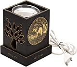 #5: Jaipur Classic Electric Aroma Oil Diffuser / Burner | Wooden Body | Sandal Oil Sampler Included | Electric bulb NOT INCLUDED