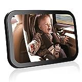 Auto Kinderspiegel, Smacho Einstellbare Autospiegel Rückspiegel Sicherheitsspiegel Rücksitzspiegel für Babys Babyschale Easy View ( schwarz)