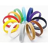 2-TECH Klett Welpen Halsbänder für Große / Riesenrassen 12 Farben, weich, anpassbar, wiederverwendbar Beschriftbar 40 cm lang