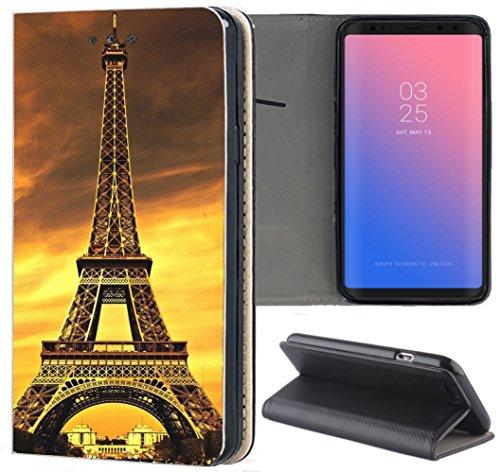Apple iPhone 7/8 Hülle Premium Smart Einseitig Flipcover Hülle Apple iPhone 7/8 Flip Case Handyhülle Apple iPhone 7/8 Motiv (1191 Paris Frankreich Eifelturm)