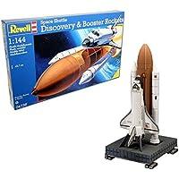 Revell - Space Shuttle Discovery & Booster, Kit de modelo, escala 1:144 (4736) (04736)
