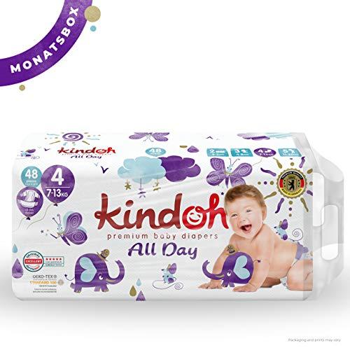 Kindoh All Day Windeln - MONATSBOX - 144 Stück (Größe 4)