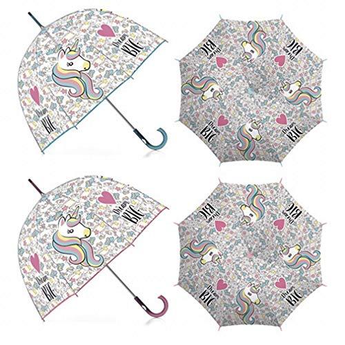 Paraguas Transparente Zaska Unicornio Apertura automática