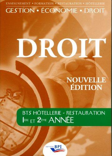 Droit BTS Hôtellerie - Restauration 1ère et 2ème année