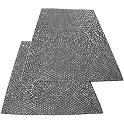 Spares2go grande alluminio rete filtro per Bosch Siemens Neff cappa/Estrattore Vent (confezione da 2filtri, 90x 47cm)