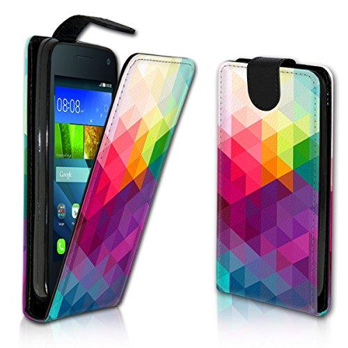 Vertikal Flip Style Handy Tasche Case Schutz Hülle Schale Motiv Etui Karte Halter für Apple iPhone 6 / 6S - Vertikal Design VMVD107 - 6 Iphone Leder Case Vertikal