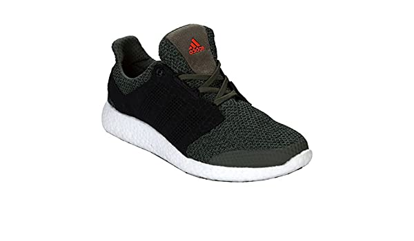 b6039aab0a6f7 adidas Mens Mens Pure Boost 2.0 Running Shoes in Green - UK 9.5   Amazon.co.uk  Shoes   Bags