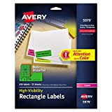 Best Avery Color Laser Printers - Avery Neon Laser Labels, Rectangle, Assorted Fluorescent Colors Review
