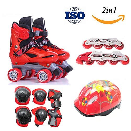 Used, Children's Quad Skates Inline Skates Flashing Wheels for sale  Delivered anywhere in UK