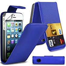Nouvelle qualité Apple iPhone 4 4S Dark Blue flip PU Housse en cuir pour Apple iPhone 4 4S