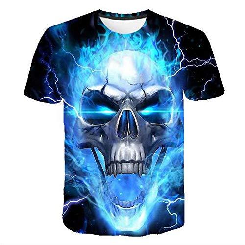 n Tank Top Fitness Ärmelloses Shirt Herren Bekleidung Sportswear Unterhemd Sommer,Gedruckt blau flammblau XL ()