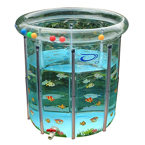 GLJYG XXSC Umweltschutz verdicken transparenter Baby-Swimmingpool \ justierbares Baby-Planschbecken \ Haushalts-Kleinkinder und junge Kinder Baby-Innennehmen ein Bad-Fass