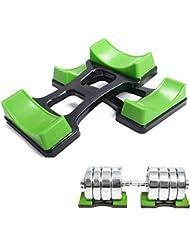 grofitness par de mancuernas de pesas levantamiento de pesas suelo soporte peso conjuntos, S(20*10cm)