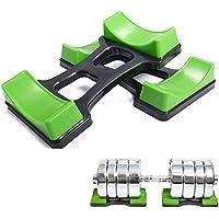 grofitness par de mancuernas de pesas levantamiento de pesas suelo soporte peso conjuntos