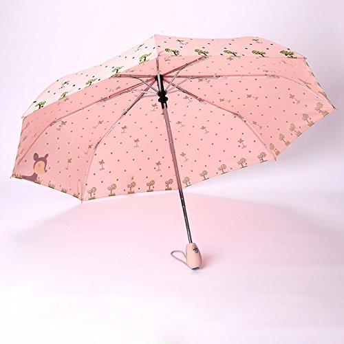 KPHY-vollautomatische regenschirm, weiblich, anti - uv - siebzig prozent von klaren regenschirm, schwarze klebstoff, sonnencreme, sonnenschirm, ein sonnenschirm,melone
