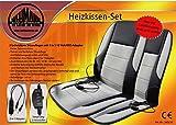 Kfz Heizkissen Set Autoheizkissen Set 2 tlg. Neuheit Fahrer und Beifahrer Sitzauflage mit Kabelausgang rechts und links