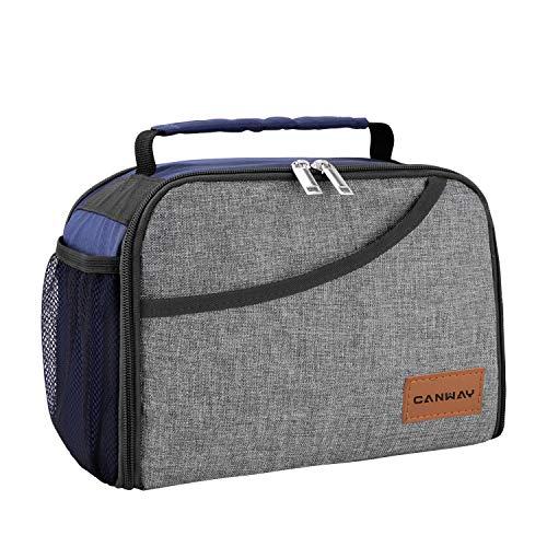 Canway borsa pranzo borsa termica porta pranzo borsa frigo per uomini donne e bambini lunch bag per ufficio, scuola, campeggio e picnic
