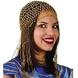 Perücke - Haarschmuck Ägypten, gold mit Perlen