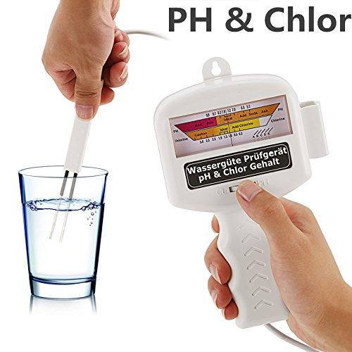 Yukio PH & Chlor Wassertester Wassertest für Aquarium, Trinkwasser, Pool, Teich, elektronisches Ph Messgerät, Wasserqualität Tester