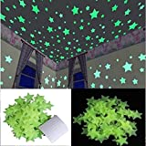 Stickonn Green Fluorescent Glow in The Dark Star Wall Sticker(Pack of 30, Size:3.8x3.8)