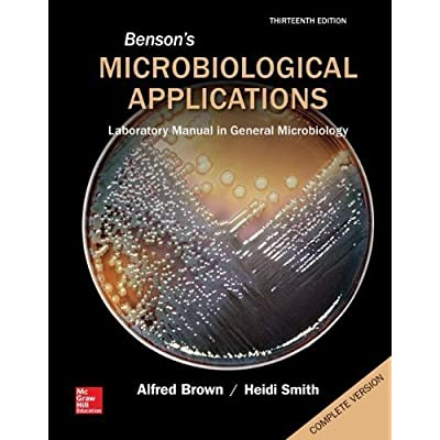 Benson S Microbiological Applications Laboratory Manual In General Microbiology Complete Version 13th Edition By Brown Alfred Smith Heidi 2014 Spiral Bound Pdf Kindle Hueywyatt