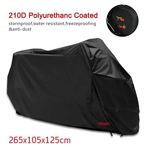 Housse de Protection pour Moto Couverture Imperméable en Polyester (265*105*125cm)