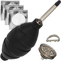 Blasebalg Extra Stark mit Staubfilter Staubreiniger Schwarz Air Blower Geeignet für Kamera, Objektive, Sensor, Tastatur, Smartphone von JJC