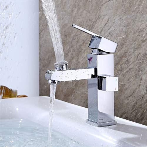LHY BATHLEADER Multifunktions Waschtischarmatur, Dual Mode Effluent Make-up Gesicht Zähneputzen Badezimmer Kabinett Waschbecken Wasserhahn, 70 cm Edelstahl-Schlauch