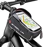 Selighting Fahrradtasche, Wasserdicht Fahrrad Rahmentasche Oberrohrtasche Fahrrad Handy Halterung für 6 Zoll Handy (Schwarz)